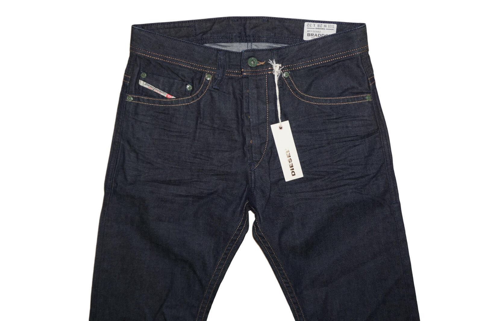 DIESEL Braddom 0088Z CAROTA Jeans Taglia W29 L34 100% AUTENTICO AUTENTICO AUTENTICO 9d1122