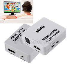 HD Mini 1080P HDMI to HDMI + L/R + SPDIF Analog Stereo Audio Adapter Converter