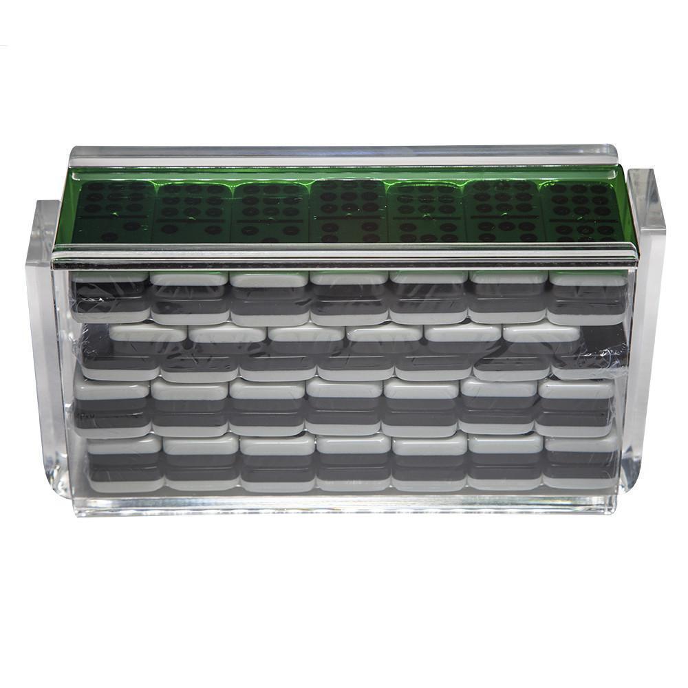Double 9  El Acere  Domino Set - verde