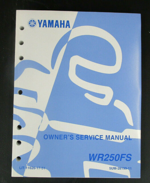 New Yamaha 2004 Wr250fs Owner U0026 39 S Service Manual Lit