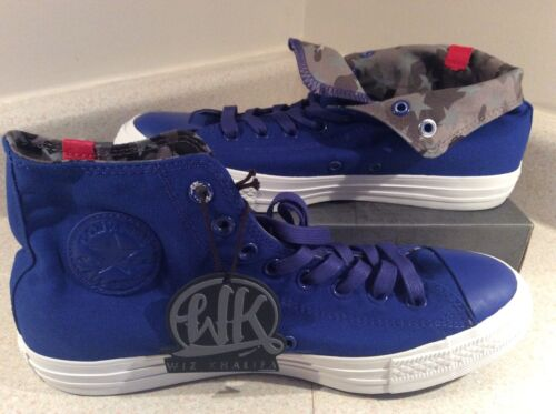Wiz Khalifa/'s Converse All Stars Sz.7 Men/'s Blue Taylors W// Grey Camo Accent