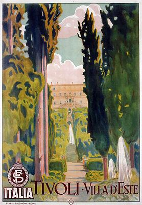 TV82 Vintage 1925 TIVOLI Lazio Italian Italy Travel Tourism Poster A4