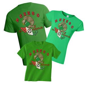 Mexico World Cup 2018 Football Mascot T-Shirt Choice Of MENS LADIES ... 799667524e
