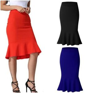 Fashion-Women-039-s-Mini-Skirt-Slim-Mermaid-Skirt-Fishtail-Bodycon-Plus-Size-S-3XL