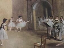 "1951 Vintage DEGAS /""THE REHEARSAL 2/"" BALLET DANCERS COLOR Art Print Lithograph"