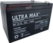 3 X Ultramax 12v 14ah (Come 12ah & 15ah) Batterie per le biciclette elettriche
