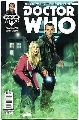 9th Doctor Who #1 B More Dw In Store Titan 1st 2015 Vf Sci-fi Tardis