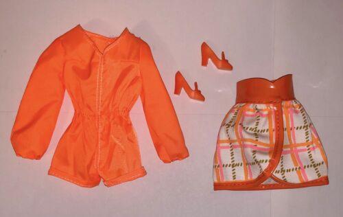 Barbie Vintage Repro Mod Friends Doll Outfit Christie Tangerine Scene Shoes NEW