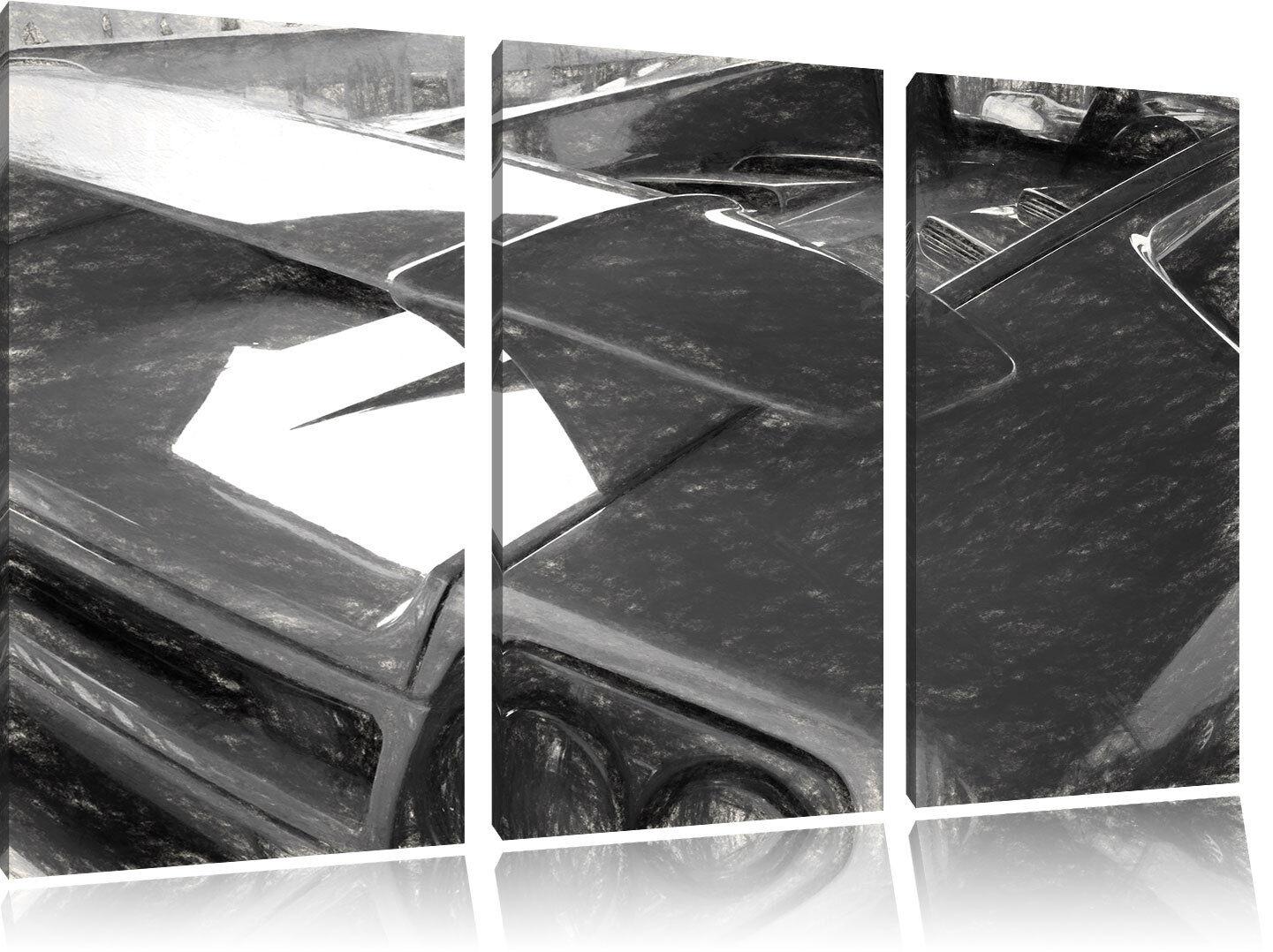 Gelber Lamborghini Gallardo   3-Teiler Leinwandbild Wanddeko Kunstdruck