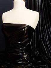 Black Wet Look Stretch Lycra Fabric NG253 BK