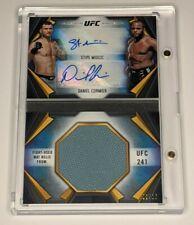 Daniel Cormier Stipe Miocic 2020 Topps UFC Knockout Dual Auto Mat Relic Book /10