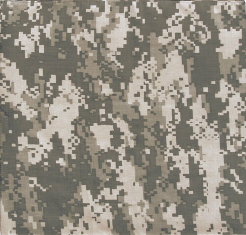 12-Pack Camo Bandanas Cotton Tactical Army Color Digital Outdoor Face Covers