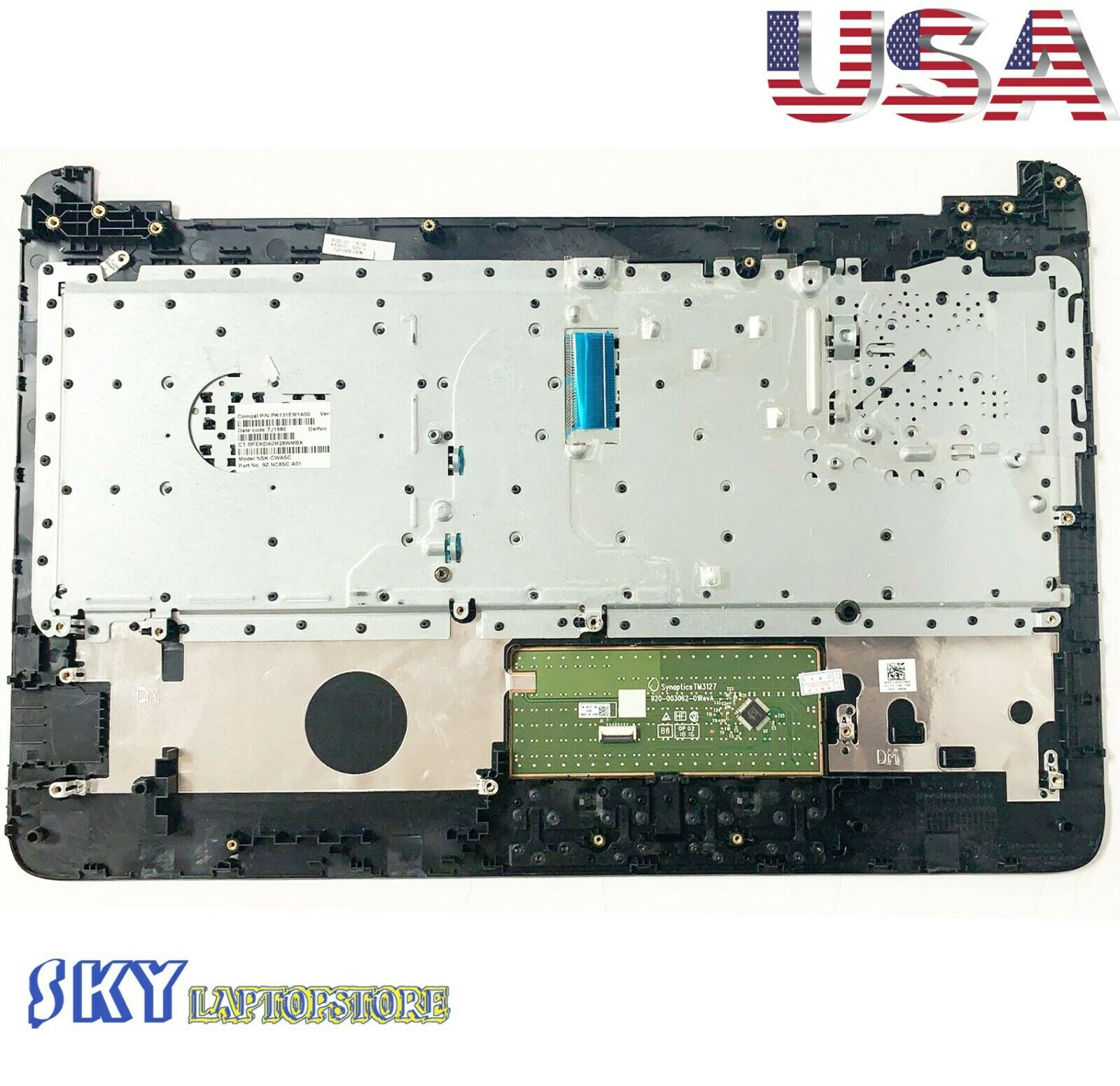 NEW GENUINE HP 15-AY 15-AC 15-BA 15 BN PALMREST Upper Case AP1O20003B1 Glossy