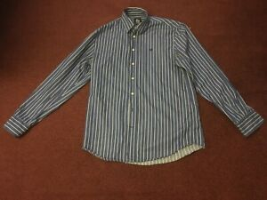 CREW-CLOTHING-CO-MENS-LONG-SLEEVE-BLUE-STRIPED-SHIRT-SIZE-42-034