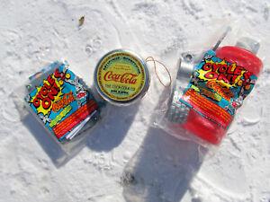 Coca Cola lot TIN CAP used, VINTAGE UNUSED LICENSE PLATE, WATER BOTTLE