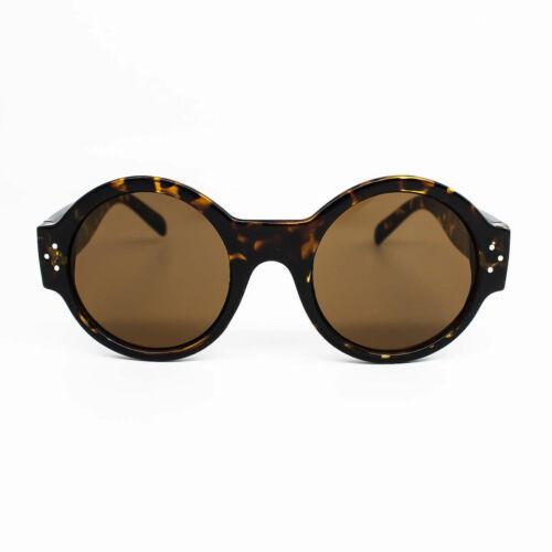 Grande ronde rétro Cadre ÉPAIS CIRCLE Lennon Femmes fashionn années 70 Lunettes de soleil