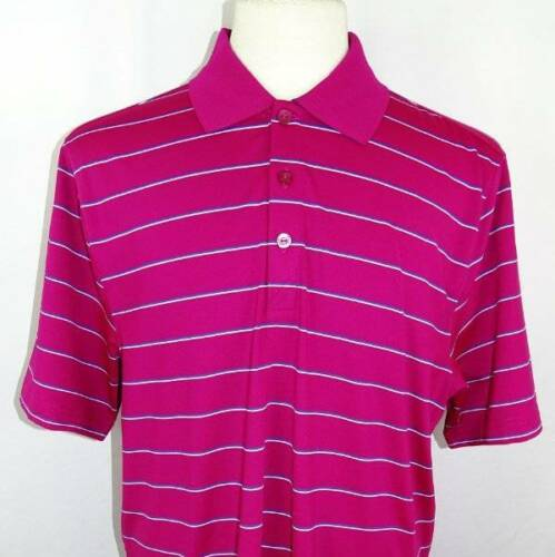 New Men/'s Cutter /& Buck DryTec 2 Color Striped SS Polo Shirt L 5 Colors Availabl