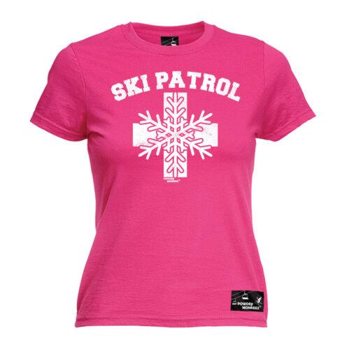 Ski Patrol WOMENS T-SHIRT Snowboard Skiing Snowboarding Gear birthday gift top