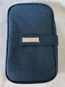 NEW-Salvatore-Ferragamo-perfume-travel-bag-blue-cosmetic-bag