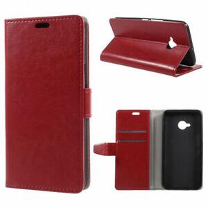 Housse-pour-HTC-U11-Life-rouge-ouverture-portefeuille