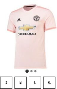 super popular 15610 c1861 Details about Mens Manchester United 3rd Light Pink Kit Size XL