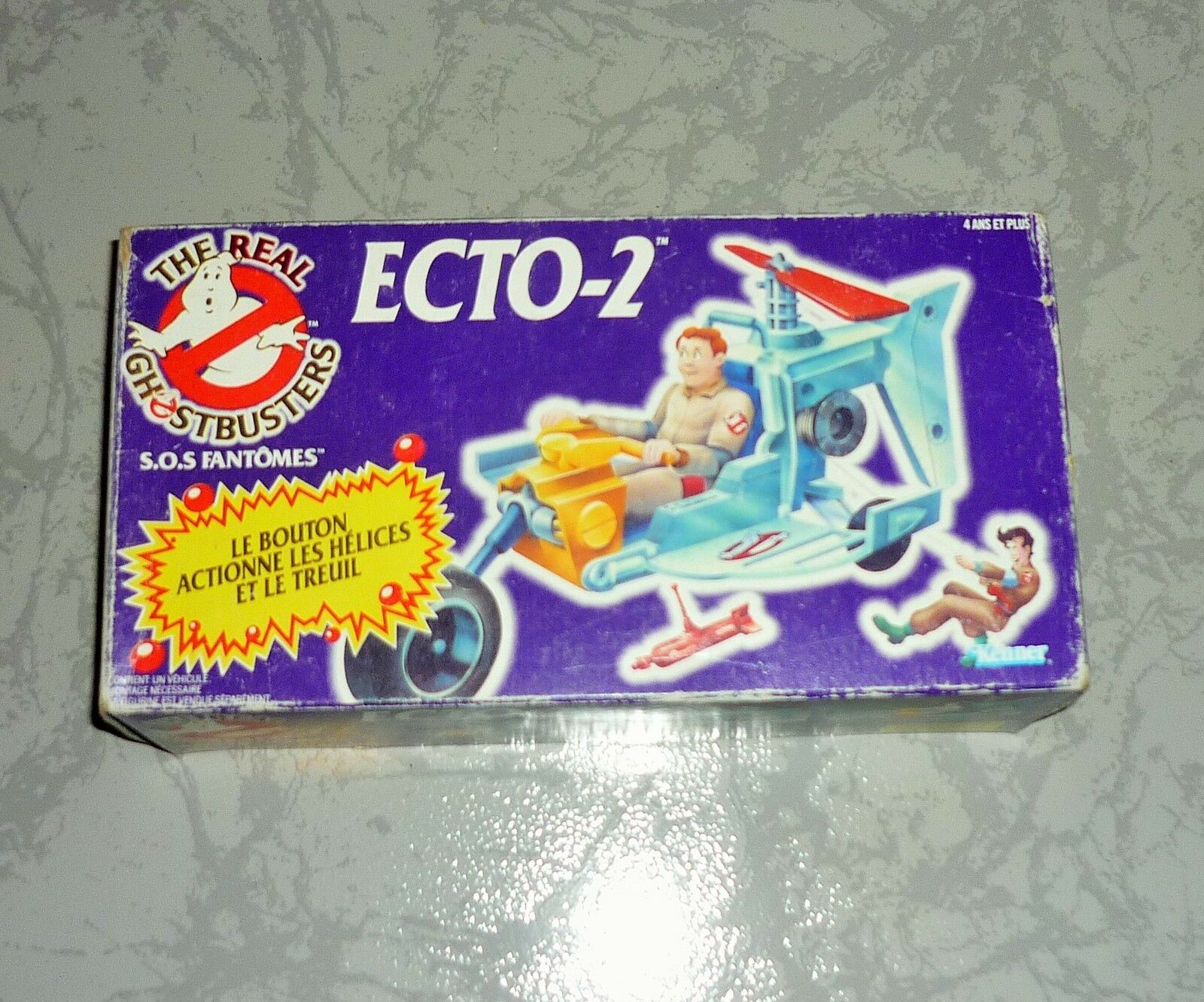 FIGURINE VOITURE THE REAL GHOSTBUSTERS ECTO-2 BOXED SANS PERSONNAGE