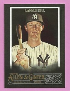 2020 Topps Allen & Ginter X DJ LeMahieu #80 New York Yankees