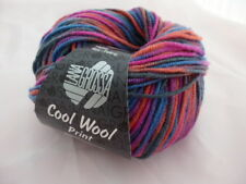 11,90€//100g Lana Grossa Cool Wool print 50g Fb 782 pink lila blau grün orange