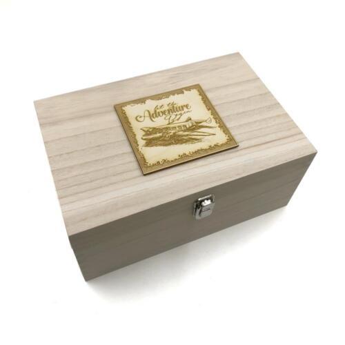 Large Wooden Travel Holiday Adventure Keepsake Box Gift HB-27