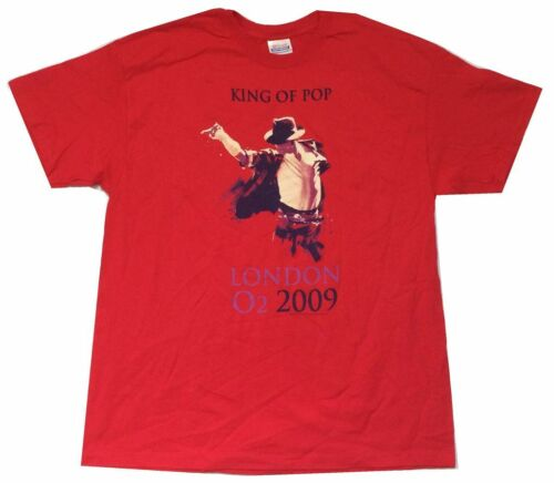 Michael Jackson London O2 2009 King Of Pop Red T Shirt New Official
