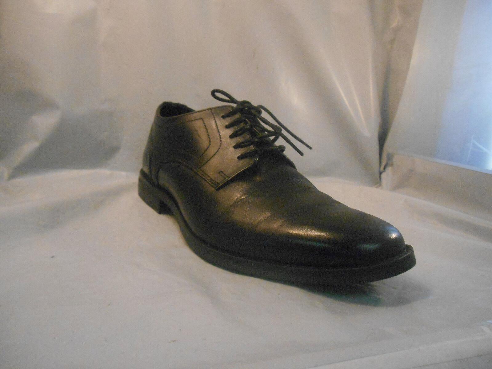 Rockport Black Leather Plain Toe Oxfords Men's Sz 8.5 M