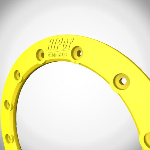 "Hiper Wheels CF1 Tech 3 Wheel Rim Replacement Beadlock Ring 9 Inch 9/"" Yellow"