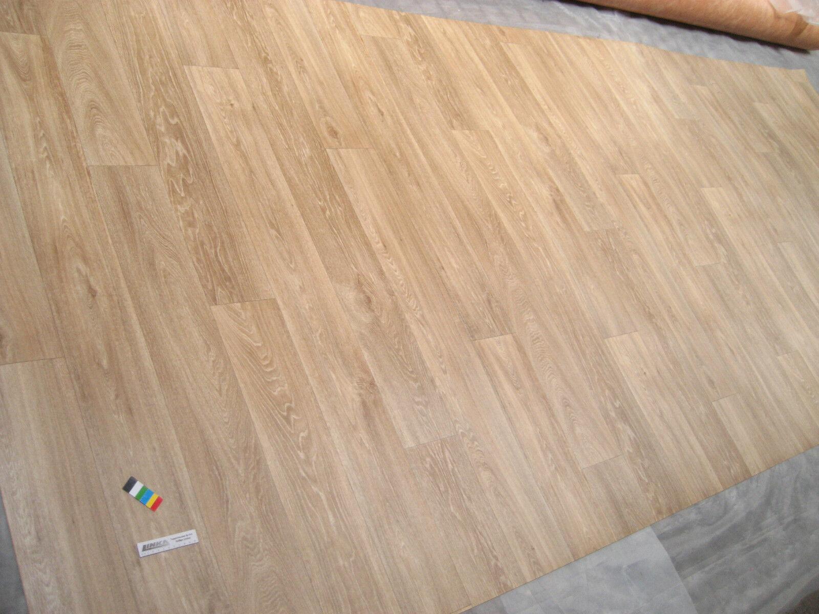 0336 PVC Belag 178x500 Boden Bodenbelag Rest CV Eiche Landhausdielen Holz Look