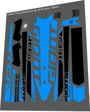 GIANT TCR Advanced SL 2016 Sticker / Decal Set