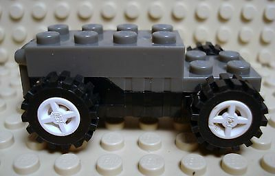 NEW Light Gray Pullback Motor 6x2x1 1//3 with Black Base LEGO LEGOS w//Wheels