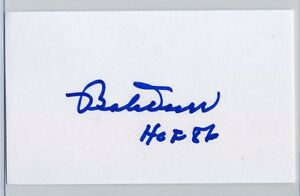 Bobby Doerr signed autographed 3x5 card HOF - 9 time all star