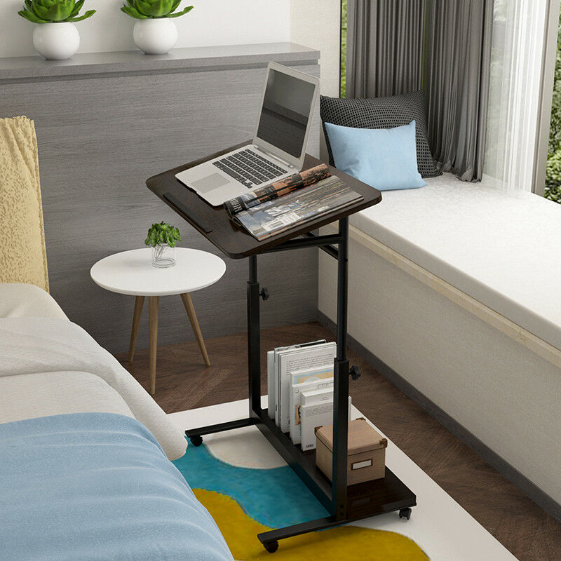Details About Bn Portable High Gloss Walnut Laptop Stand Table Sofa Bed Tray Height Adjule
