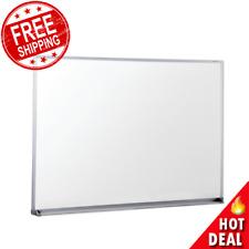 Dry Erase Board 48 X 36 Office Whiteboard Satin Finished Aluminum Frame New