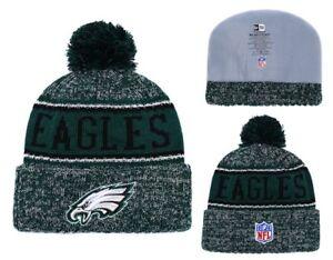 b290c60e106 2018 Philadelphia Eagles New Era Knit Hat On Field Sideline Beanie ...