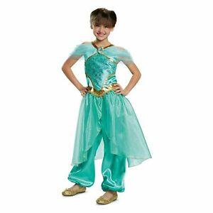 Disney-Princess-Jasmine-Deluxe-Child-Girls-Kids-Halloween-Costume-XS-Medium-NEW