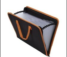 Fabricpoly Accordion File Organizer Document Folder With Zipper Closureubaymax
