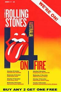 THE-ROLLING-STONES-2014-Australian-Laminated-Tour-Poster