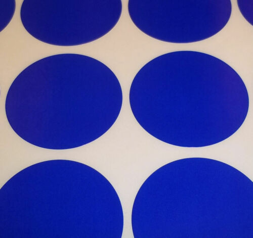 100 Dark Blue 38mm 1.5 Inch Colour Code Dots Round Stickers Sticky ID Labels