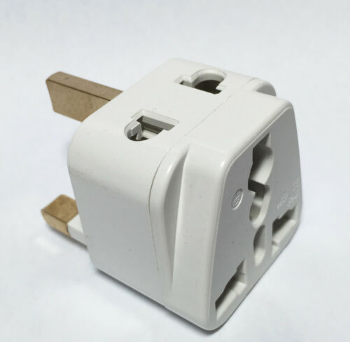Tmvel  2-in-1 Type G Plug Grounded Adapter for United Kingdom Hong Kong UAE UK