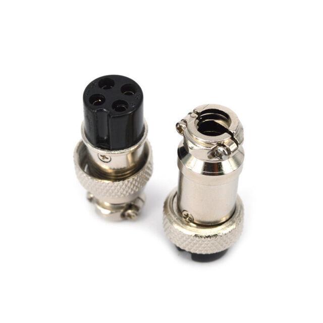 Aviation Plug 4-Pin 16mm GX16-4 Metall männlich weiblichen Panel Connector TC