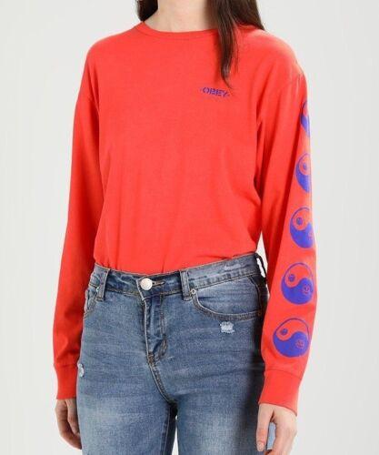 Kleidung Poppy Dusty Subversion Gr Langarmshirt Obey Orange Damen M A4336 f5dXIqwx