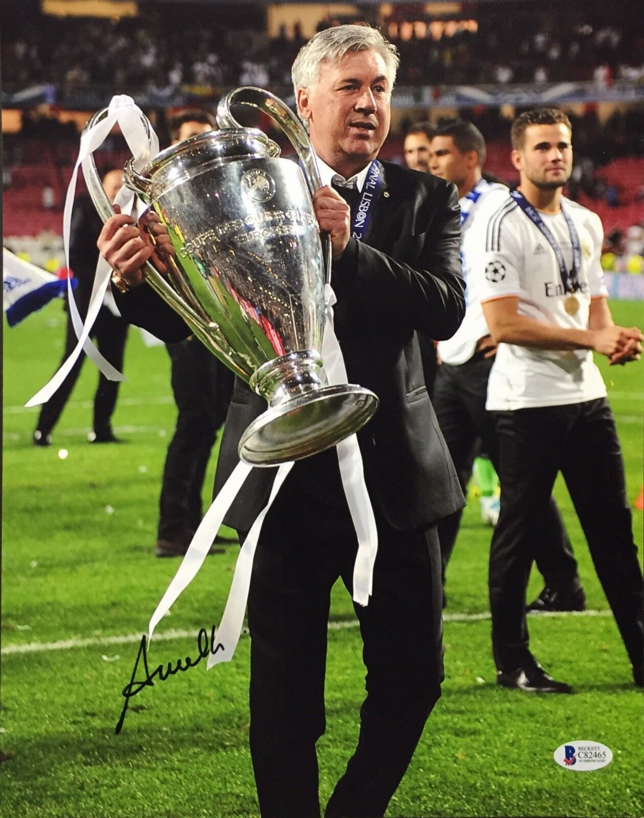 Carlo Ancelotti Signed 11x14 Soccer Photo BAS Beckett C82465