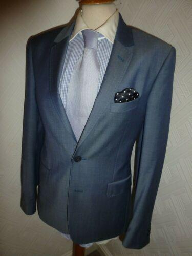 Bleu Costume Ted Decjac Baker Hiver Hommes Veste Automne 32 7 Taille 36 R London Jambe IUZnw