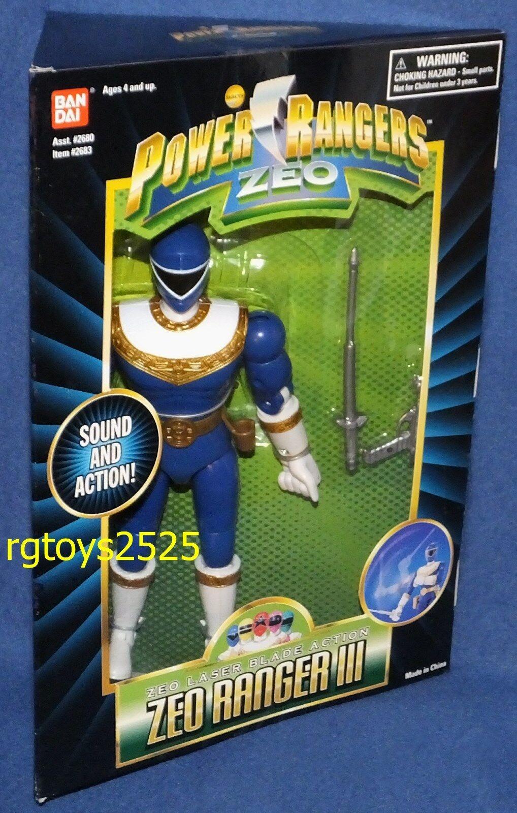 Power rangers zeo 8  blaue ranger iii neue fabrik versiegelt, 1995