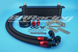 Black-13-row-Oil-Cooler-Sandwich-Plate-For-Ford-Fiesta-ST180-1-6T-2012-2015